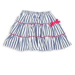 NWT Flapdoodles Navy & White Stripped Skirt